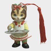 Bronson Collectibles Kitty Cat Christmas Ornament Ginger Figurine