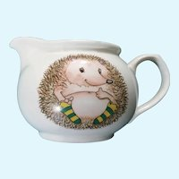Hedgehog Porcelain Creamer Adorable Handle With Care