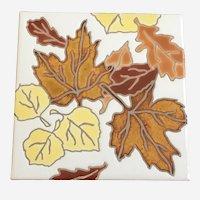 Ciaria Fall Leaves Tile Trivet Coaster Wall Hanging Durango, Colorado