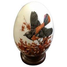 Avon Bird Fine Porcelain Egg Autumn Brings Magic Changes with Stand