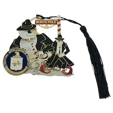 CIA Christmas Snowman North Pole Central Intelligence Agency Ornament