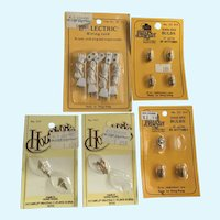 Dollhouse Electric Wiring Cords Screw-Base Bulbs Hinges Door Pulls Accessories