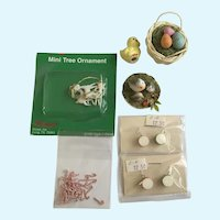 Dollhouse Miniatures Easter Christmas Holiday Accessories