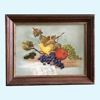 Connally, Fruit Still Life Oil Painting Signed by Artist