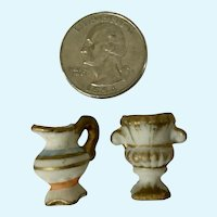 Miniature Ewer and Urn Ceramic Japan