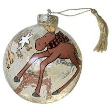 Cat, Dog, Moose and Reindeer Ball Christmas Ornament