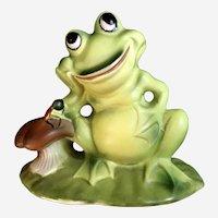 Josef Originals Frog & Ladybug Ceramic Figurine Japan