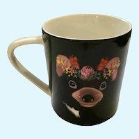 Christopher Vine Ceramic Mug Beautiful Australians Bear & Flowers  HTF
