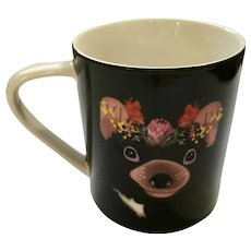Christopher Vine Ceramic Mug Beautiful Australians Bear & Flowers  HTF