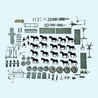 Mid-Century Borax 20 Mule & Wagons Team Plastic Scale Model Kit Promotional Toy