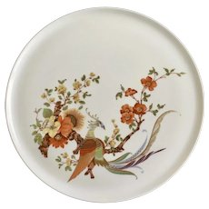 Kaiser Olivia Cake Plate Golden Pheasant Bird West Germany 12""