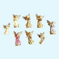Musical Angel Figurines Mid-Century for the Angelic Choir