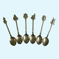 Holland Collector Spoons Spelter Metal Windmill Figural
