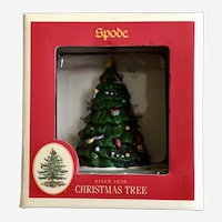 Spode Christmas Tree Coaster Set with Holder Display