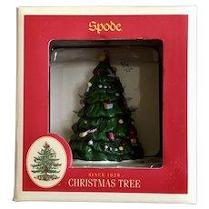 Spode Christmas Tree Coaster Set with Holder Display