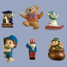 Hallmark Cards Holiday St. Patricks, Graduation, New Years, Uncle Sam Figures