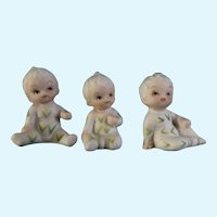 Corn Pajama Boy Figurines Bisque Japan UOGC Baby of the Month