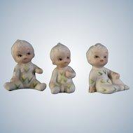 Corn Pajama Boy Figurines Bisque Japan UOGC Baby of the Month