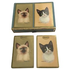 Vintage Congress Kitty Cat Cards Double Deck Sealed New Old Stock