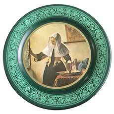 Woman at the Window Jan Vermeer 1974 Toleware Metal Plate