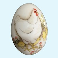 Noritake Bone China Easter Egg Rooster Chicks 1973 Figurine