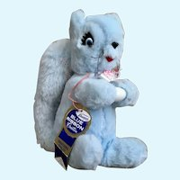 Mid-Century Squirrel Richard Krueger Blue Ribbon Creation Stuffed Plush Animal
