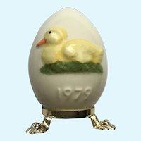 1979 Goebel Second Edition Easter Egg Duck Porcelain Figurine