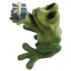 Kitty's Critters Frog Figurine Just For You Gift