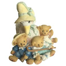 Cherished Teddies Baby Mother Goose Friends of a Feather Flock Together Figurine