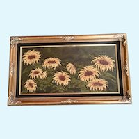 Jim Pruna, Flowers of Gold, Floral Sunflower Landscape Oil Painting
