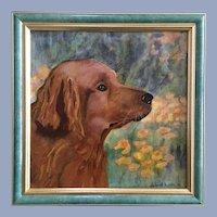 Deborah Burdin, Golden Retriever Dog Portrait Oil Painting