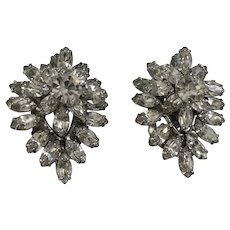 Stunning Faux Diamond Rhinestone Collar or Shoe Clips