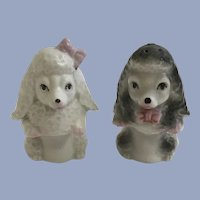 Mid-Century Begging Poodle Dog Puppies Salt and Pepper Shakers Japan