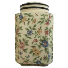 Vintage Floral Transferware Single Salt or Pepper Shaker Replacement Circa 1920's Japan