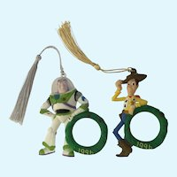 Disney Toy Story 1996 Christmas Photo Ornaments Woody Buzz Lightyear