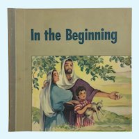In The Beginning Religious Children's Biblical Short Stories Book Robbie Trent 1949 Westminster Press