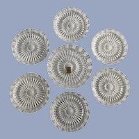 Nachitmann 24% Leaded Crystal Six Wine One Decanter Coasters W. Germany Glass