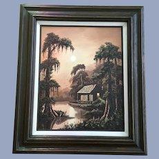Allie Thomasson Louisiana Bayou Swamp Cove Landscape Oil Painting
