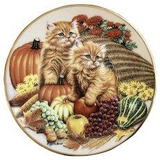 November Cat Calendar Kalendar Kitties Bradford Exchange Miniature Plate