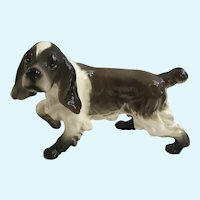 Brown and White English Springer Spaniel Gun Dog Figurine Hunting Pointer
