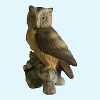 Vintage Lefton Great Horned Owl Figurine #KW121