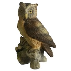 Vintage Lefton Great Horned Owl Figurine #KW121