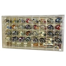1990's NFL Riddell Pocket Pros Chrome Traditional Style Football Helmets