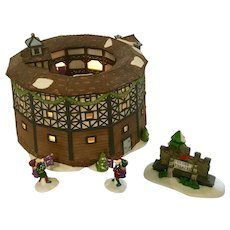 Dickens' Village The Old Globe Theatre Snow Diorama Building Department 56