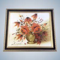 Rispoli,  Floral  Oil Panting on Canvas Signed by Artist