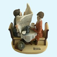 Norman Rockwell Series 2 Danbury Mint Breakfast Conversation 1980 Figurine