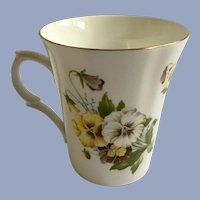 St George Pansy Coffee Cup Fine Bone China England
