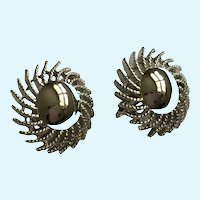 Sarah Coventry Silver-Tone Clip-On Earrings