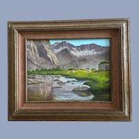 Barbara Olsen, Summers Alpine Lake Mountain Landscape Oil Painting