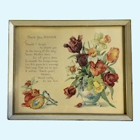 Vintage Mother Poem Framed Print Shall I Forget?